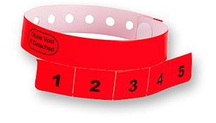5-Tab Vinyl Wristbands