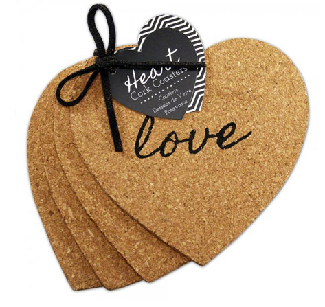 Heart Cork Coaster