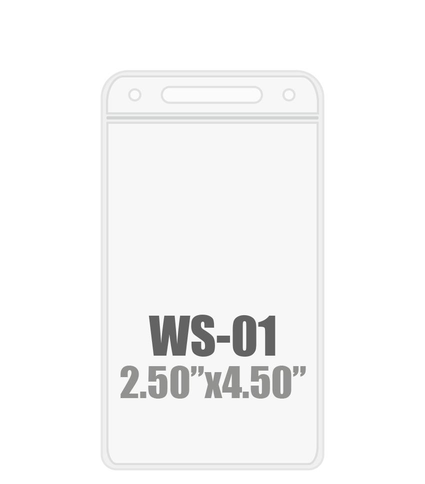 2.5W x 4.5H (WS-01) Badge Holder