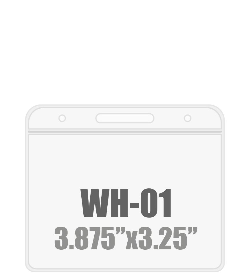 3.87W x 3.25H (WH-01) Badge Holder