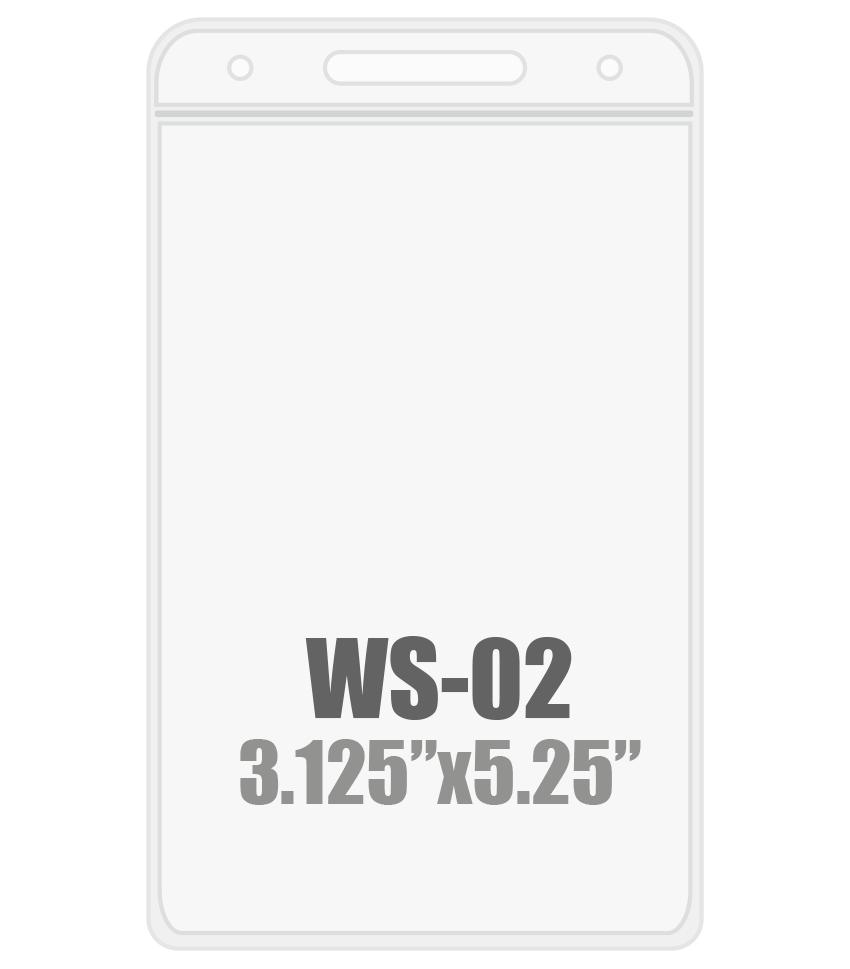 3W x 5.25H (WS-02) Badge Holder
